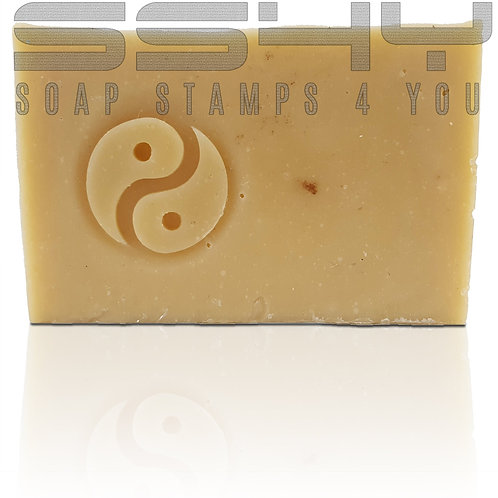 "3D Ying Yang Soap Stamp - 1.57"" (40mm) diameter"