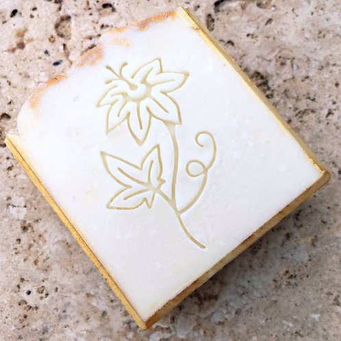 """Large Passion Flower Soap Stamp - Footprint 1.37"""" x 2.28"""" (35mm x 58mm)"""