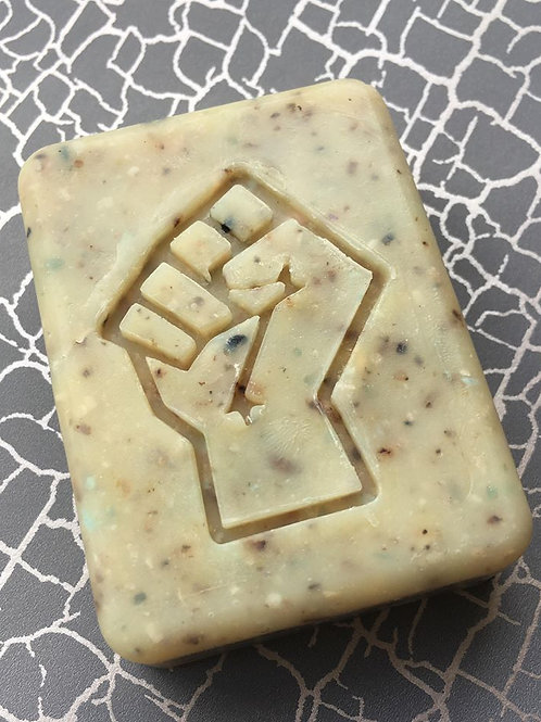 "Fist design2 Soap Stamp - footprint 1.57"" x 2.05"" (40mm width x 52mm hei"