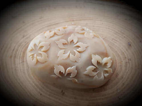 "3D Fire Flower Soap Stamp - 1.57"" (40mm) diameter"