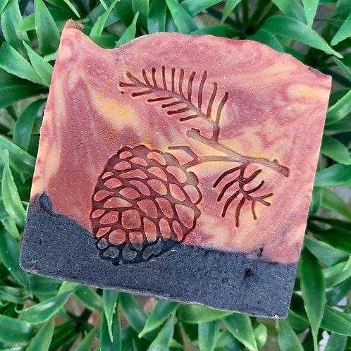 "Large Pine Cone Soap Stamp - 2.28"" (58mm diameter)"