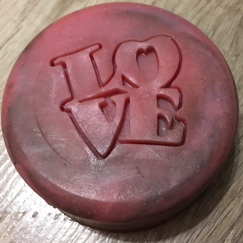 "Love Valentine's Day Soap Stamp - footprint: 1.42"" x 1.34"" (36mm x 34mm)"