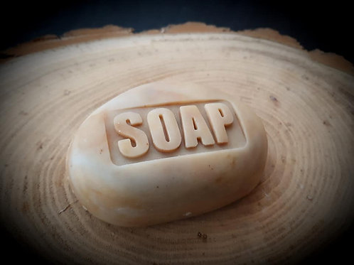 Inverse Soap Text soap stamp - no handle needed - footprint 52mm x 23mm