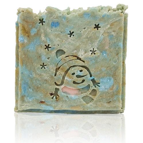 """SnowMan Soap Stamp - footprint: 1.53"""" x 2.08"""" (39mm x 53mm)"""