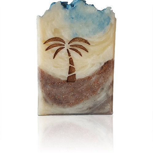 "Palm Tree Soap Stamp - footprint: 1.42"" x 1.38"" (36mm x 35mm)"