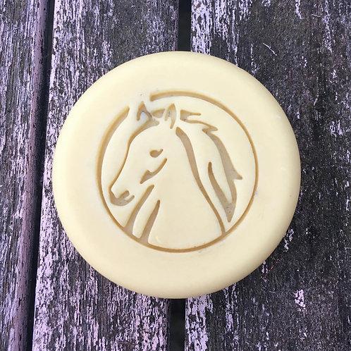 Horse in Circle Soap Stamp / 42mm diameter Soap Stamp