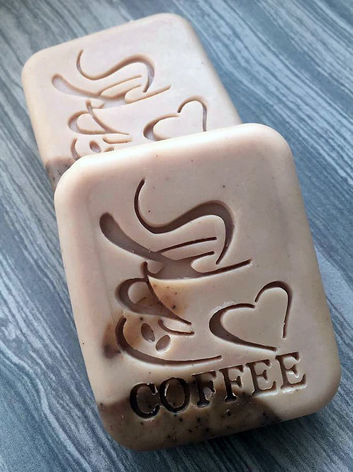 "Coffee Soap Stamp - footprint 1.61"" x 2.05"" (41mm x 52mm)"