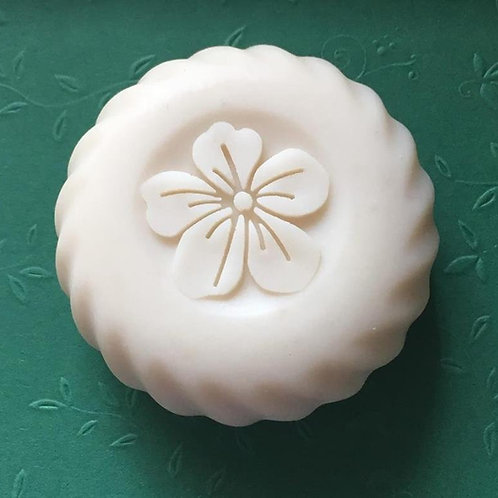 "3D Beautiful Flower Soap Stamp - 1.57"" (40mm) diameter"