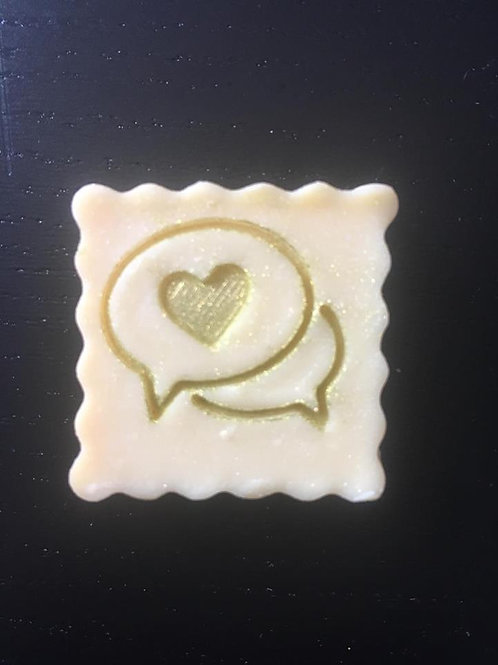 "Heart Bubble Soap Stamp - footprint: 1.02"" x 0.86"" (26mm x 22mm)"