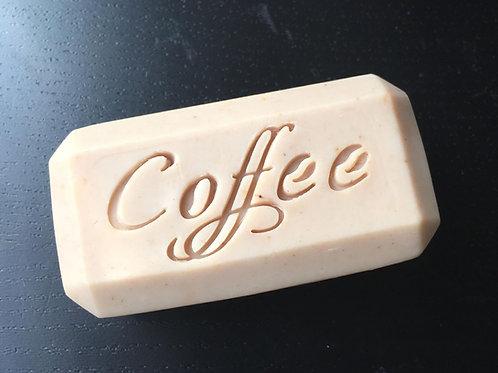 """Design Coffee Text Soap Stamp - footprint 2.16"""" x 0.98"""" (55 mm x 25 mm"""