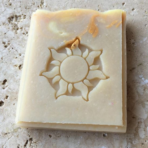 "Dancing Sun Soap Stamp - 1.456"" x 1.456"" (37mm x 37mm)"