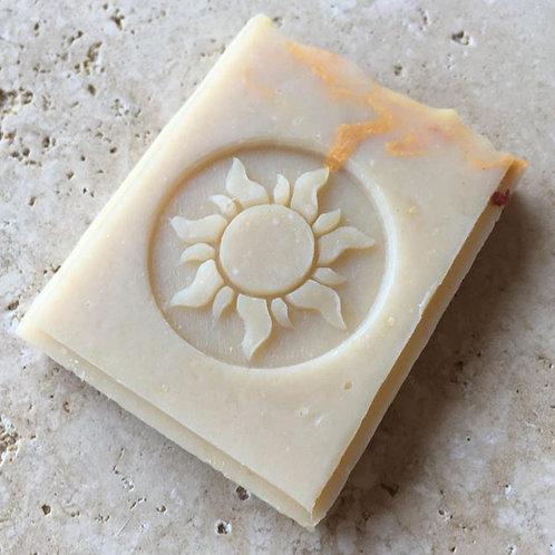 "Dancing Sun Soap Stamp - 1.456"" x 1.456"" (37mm x 37mm)"