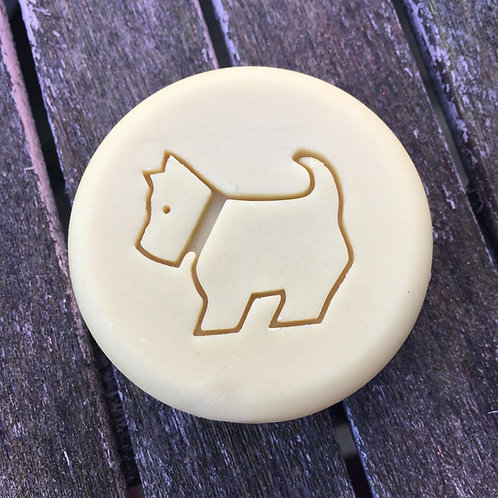 "Scottish Terrier Soap Stamp - footprint 1.45"" x 1.34"" (37mm width x 34mm)"