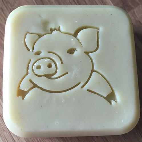 """Lard / Pig Soap Stamp - footprint 1.49"""" x 1.26"""" (38mm width x 32mm height)"""