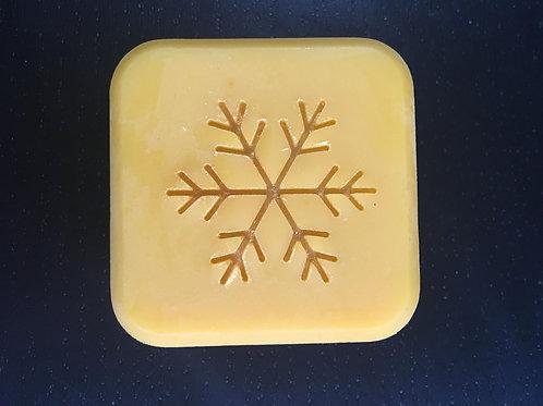 "Snowflake Soap Stamp - footprint 1.42"" x 1.22"" (36mmx31mm)"