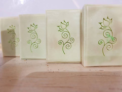 Curly Lotus Flower Soap Stamp