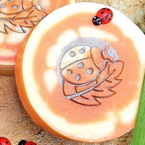 "3D Ladybird Nature Soap Stamp - 1.57"" (40mm) diameter"