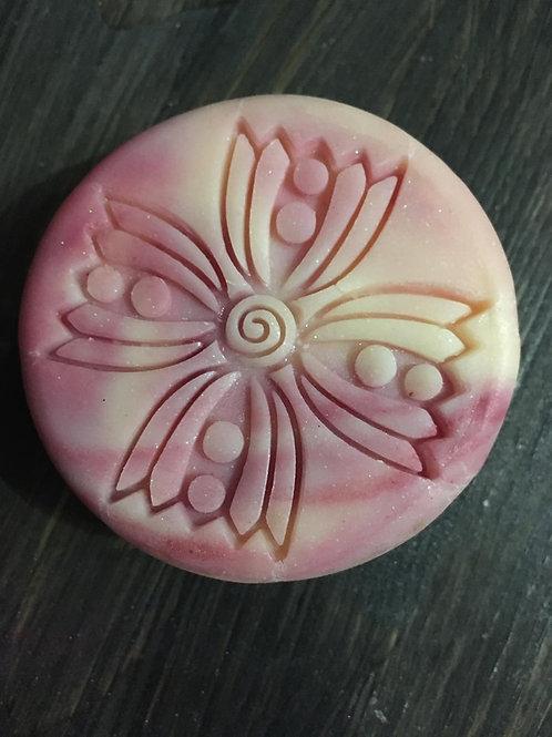 "Large Lace Design2 2.2"" / 56mm diameter Soap Stamp"