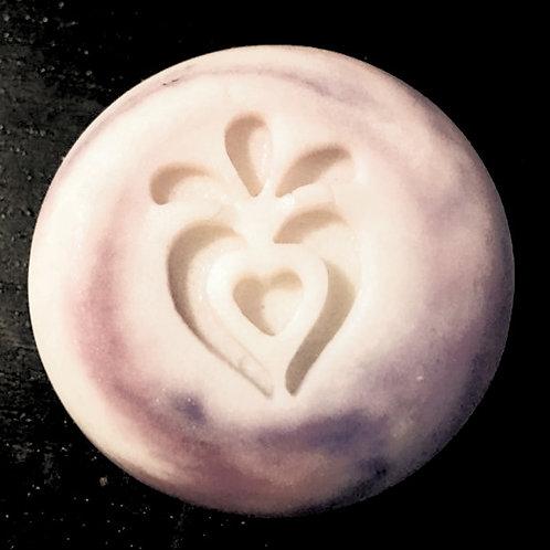 """Heart Flower Soap Stamp - footprint: 0.78"""" x 1.06"""" (20mm x 27mm)"""
