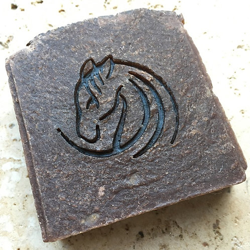 "Horse Head Soap Stamp - footprint: 1.65"" x 1.53"" (42mmx39mm)"