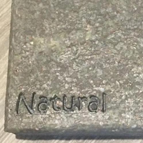 "Natural text soap stamp narrow - footprint: 1.45"" x 0.39"" (37mm x 10mm)"