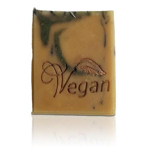 "Vegan Text Soap Stamp - footprint 1.77"" x 0.98"" (45mm width x 25mm height)"