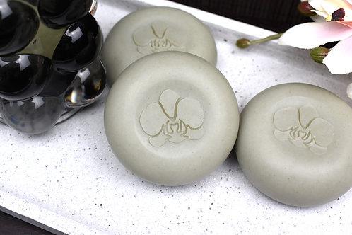 "3D Orchid1 Soap Stamp - 1.57"" (40mm) diameter"