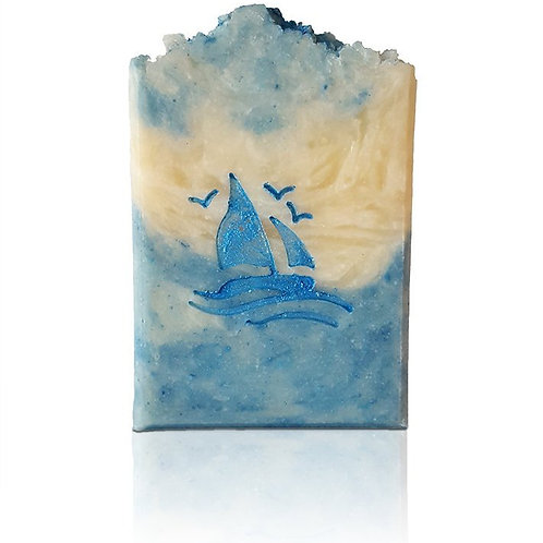 "Sailing Boat without Moon Soap Stamp - footprint: 1.38"" x 1.5"" (35mm x 38mm)"