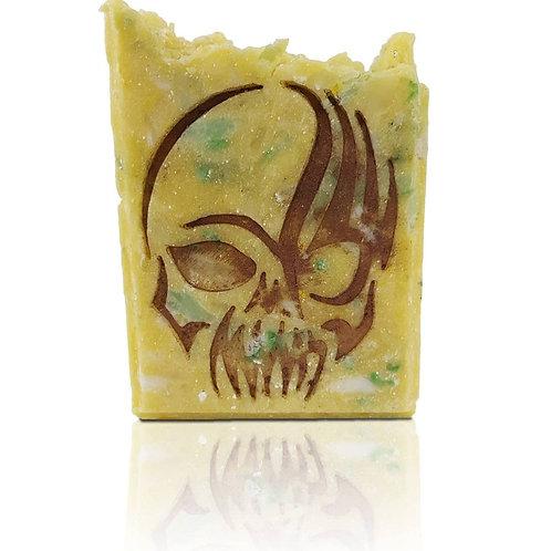"""Skull Soap Stamp - Footprint 1.69"""" x 2.17"""" (43mm x 55mm)"""