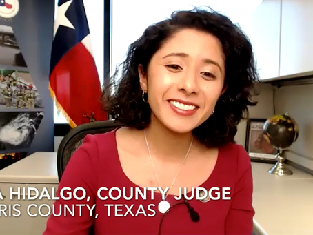 "COVID-19: Harris County Judge Hidalgo Supports ""Masks For All"" and Thanks Church Effort"