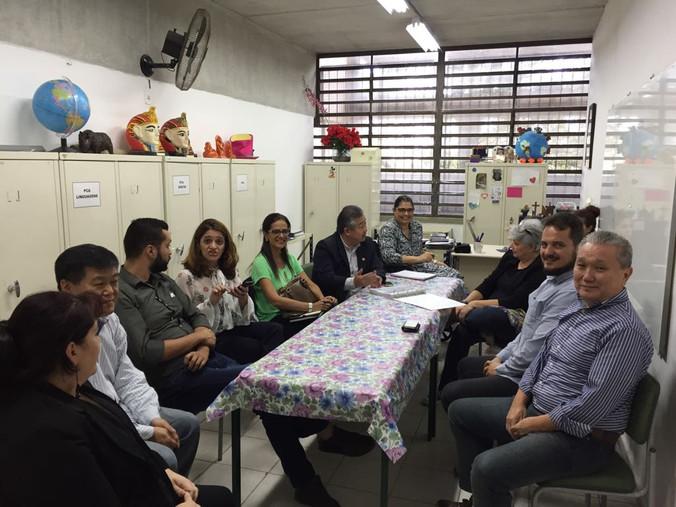 Visita a Escola Educador Pedro Cia