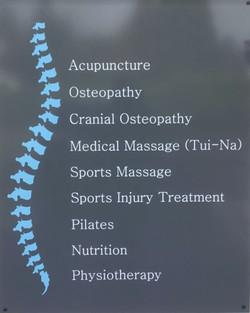 Treatments Sign