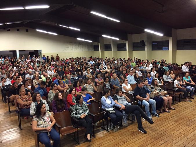 Palestra para alunos, pais de alunos e educadores da Escola João XXIII em Americana - SP