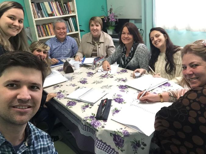 Reunião com Equipe Gestora da Escola Lauro Gomes