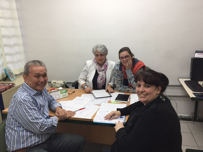 Troca de experiências na Escola Educador Pedro Cia
