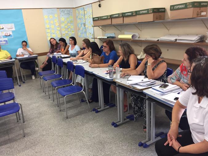 Palestra para professores e membros da Equipe Gestora da Escola Reinaldo Ribeiro em São Paulo