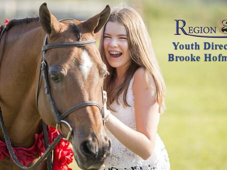 Region 8 Youth Director, Brooke Hofmann