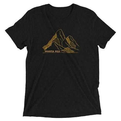 Dharma Digs Yellow Mountains - Short Sleeve T-shirt