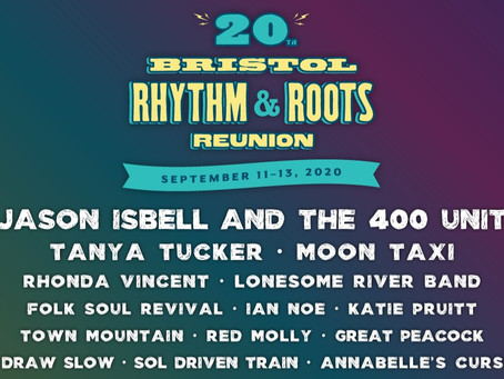 20yrs of Bristol Rhythm & Roots Reunion - Initial Lineup Announcement 2020