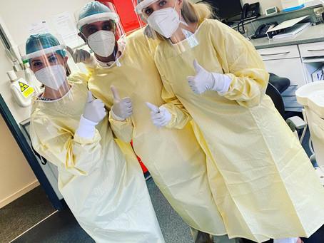 Our dental team in Twickenham in full PPE