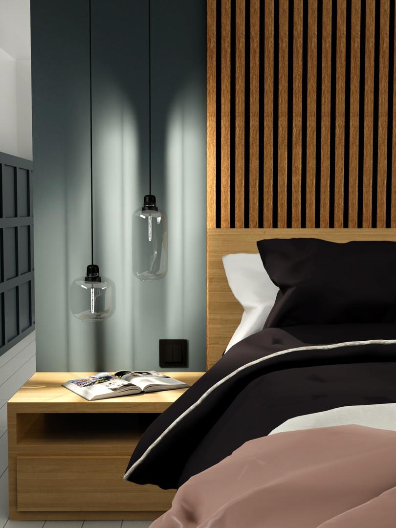 LB Interieurontwerp slaapkamer woonboot