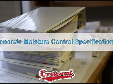 OBEX - Concrete Moisture Control Specifications