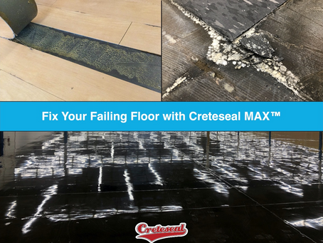 Fix Your Failing Floor - Open Renovations with Creteseal MAX
