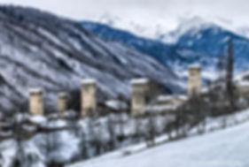 Зима в Верхней Сванети, Грузия