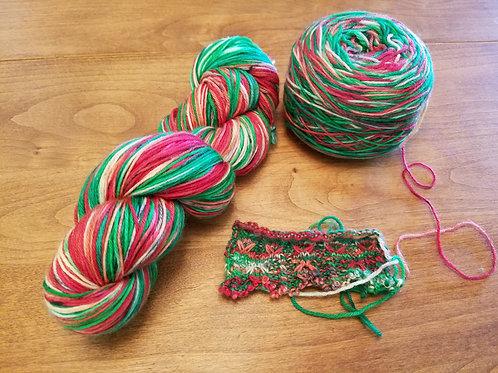 Christmas Champagne Hand dyed yarn