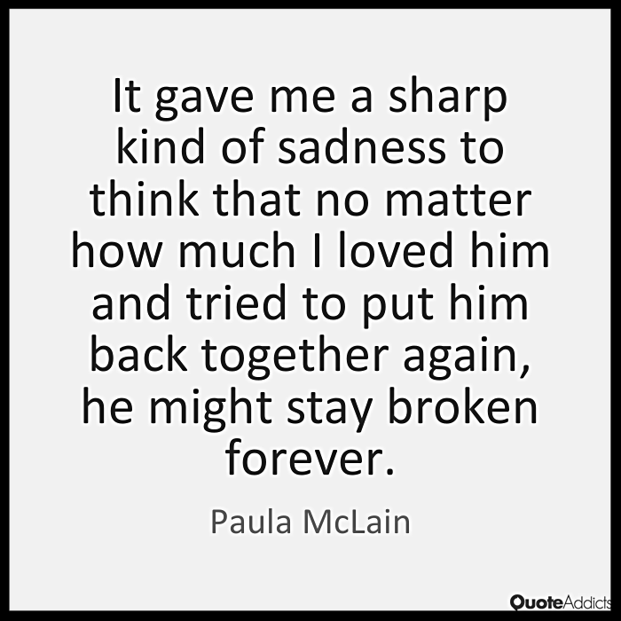 paula mclain quote when love isn't enough