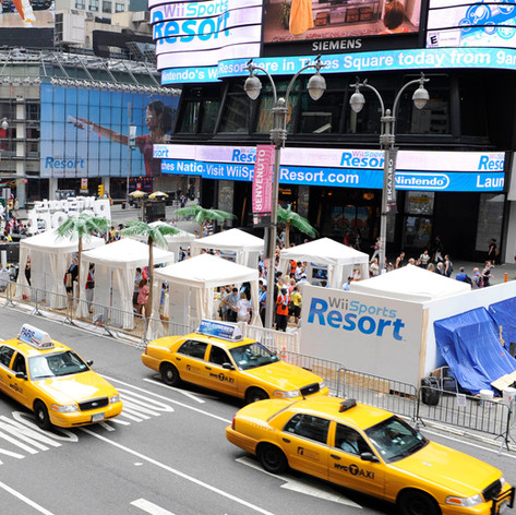 Wii Sports Resort in Times Square