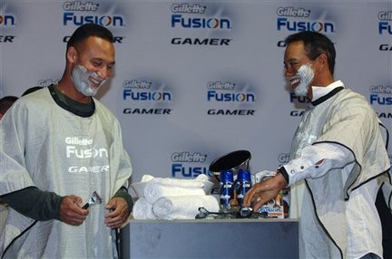 Derek Jeter & Tiger Woods launching the Gillette Fusion
