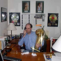 Tim Hayes with NBA Championship Trophy