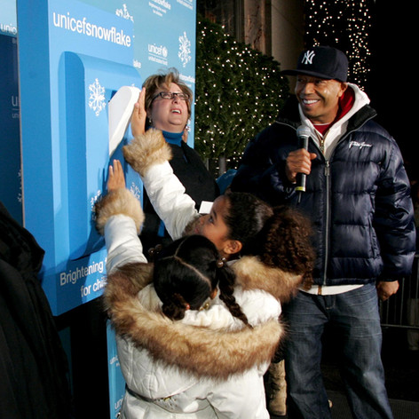 Russell Simmons at UNICEF Snowflake Lighting